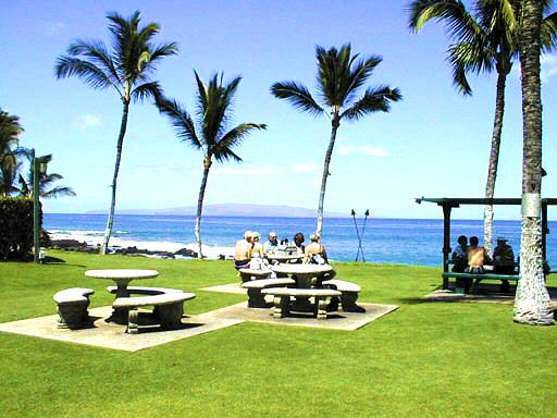 Maui vacation rental condominiums - BarBQ area at Kihei Surfside