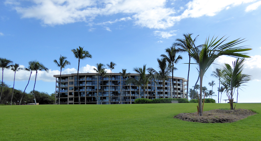 View of Kihei Surfside building as seen from the seaside