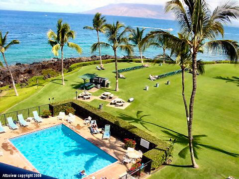 Maui vacation rental condominiums - View from your private lanai