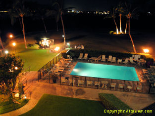Night Time at the Kihei Surfside Pool